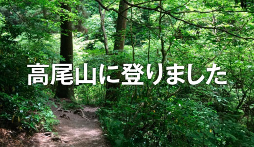 高尾山に登りました(2018年5月)