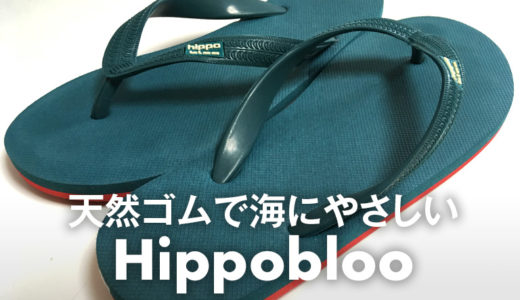 【天然ゴム】Hippobloo(ヒッポブルー)のサンダルを室内履きにしました。