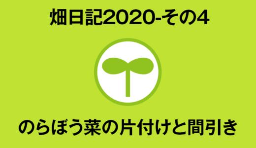 【畑日記2020-その4】のらぼう菜の片付けと間引き